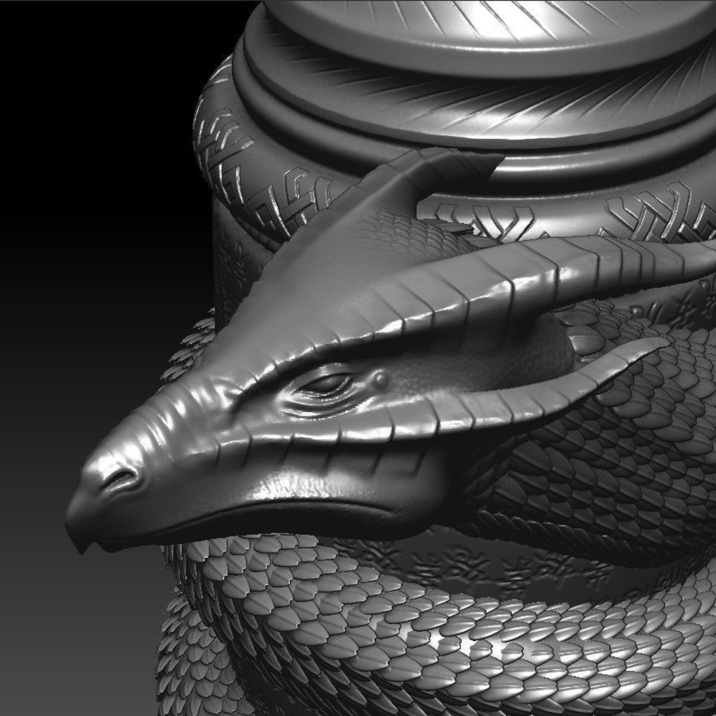 Asian Dragon Pergamin