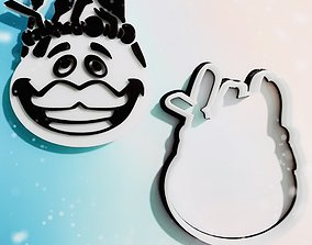 cookie cutter and stamp Tomate head 3D model