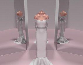 Hanna Wedding Dress 3D model