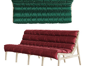 3D Restaurant sofa