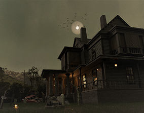 game-ready Haunted house 3d model
