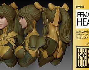 Female Anime Head 4-Eve 3D