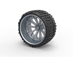 3D printable model Offroad wheel for lifted trucks 2