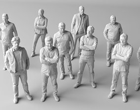 3D model 10 Low Poly People Pack Volume 1