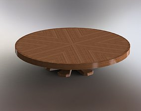 Round Expanding Folding Table 3D model