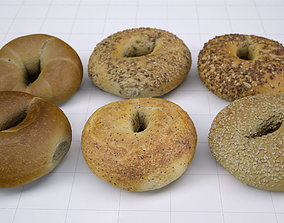 6 Bagel Pack - High resolution 3d scan game-ready