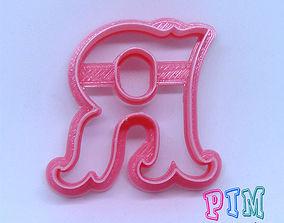 3D printable model Vintage letter R cookie cutter
