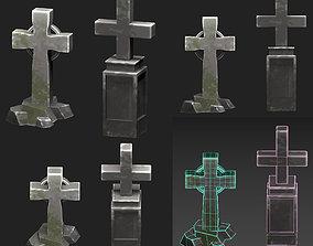 grave cross 3D model