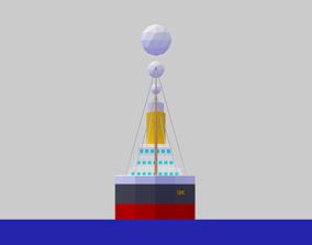 3D asset Low Poly Simple Cartoon Titanic