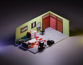 3D Beauty Salon Isometric
