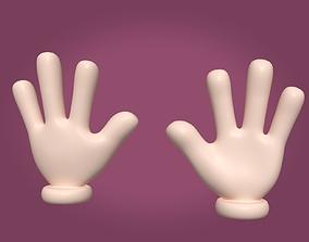 Cartoon Hand - Four Fingers 3D model