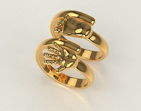 Hand Pair Rings 3D print model