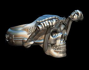 Rider skull ring 3D printable model