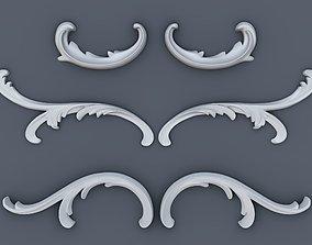 Baroque volutes pack 3D print model