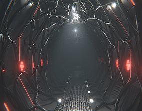 Sci Fi Corridor Tunnel Interior 3D