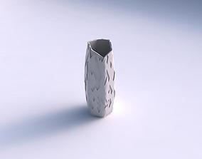 Vase arc hexagon with cavities 3D print model