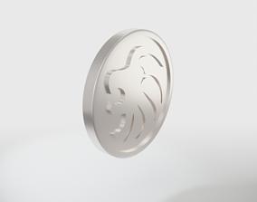LEO Zodiac sign coin 3D print model