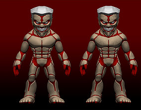 Chibi Attack on titans armored titan model chibi