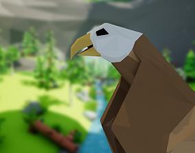 Eagle 3D model animated