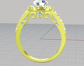 ring diamond platinum 3D printable model
