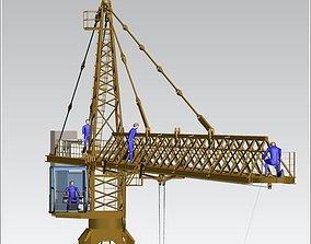 TOWER CRANE -ASSEMBLY- 3D model