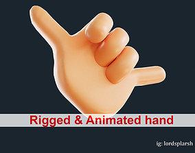 animated Call Hand 3D Emoji Animated