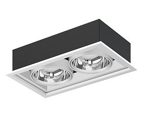Double Ceiling Light 3D Model