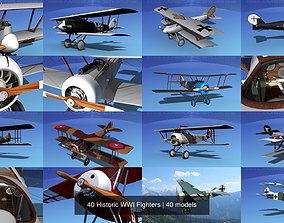 40 Historic WWI Fighters 3D