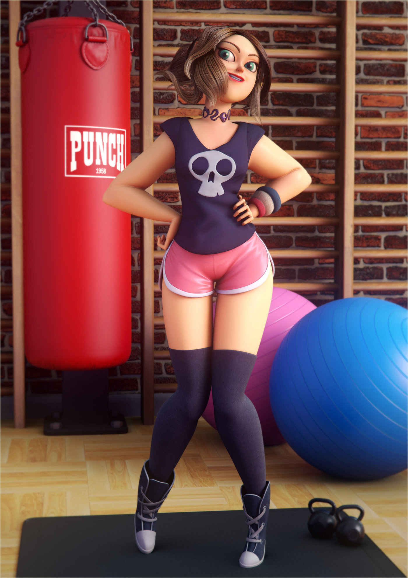 Sports girl by Josu Martin
