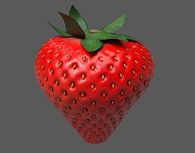 lime 3D asset game-ready Strawberry