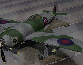ww2 3D model Republic Thunderbolt Mk-1 - RAF