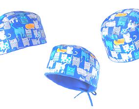 Surgical hat 01 3D model