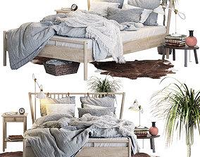 Bed BJORKSNAS Ikea 3D model