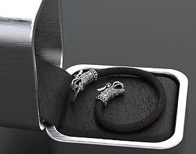 Stylish dragon bracelet under the 3D printable model 4