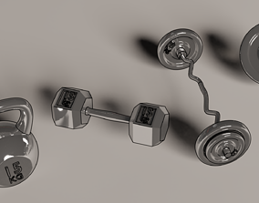 Miniature gym weights - 4 models