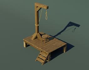 3D model Wooden gallows