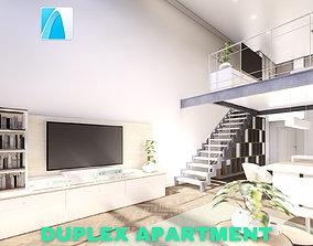 3D model Modern Duplex Apartment Scene - Archicad