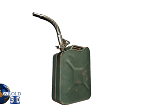 low-poly Jerrycan Lowpoly PBR 3d Model