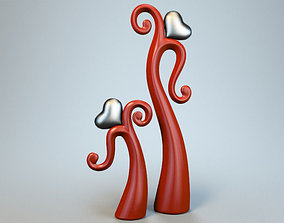 3D model Dancing heart sculpture