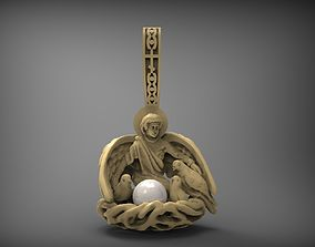 pendant with pearl 3D print model STL
