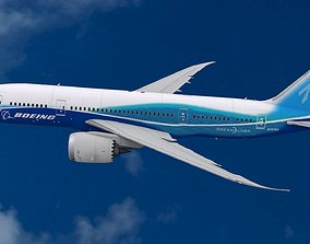Boeing 787 Dreamliner aircraft 3D model airplane