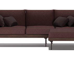 game-ready Modern sofa 3D model