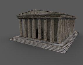 3D model Ancient Greek temple low-poly