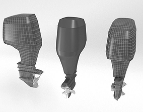 Outboard Motor 3D asset