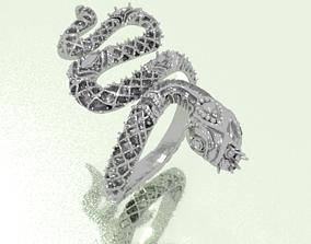 3D print model art snake ring
