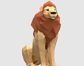 3D asset Lions