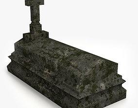 Lowpoly Tombstne 3D model low-poly