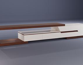 wooden TV cabinet 3D model