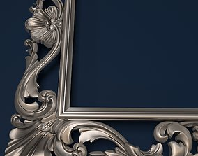 print 3D printable model mirror frame