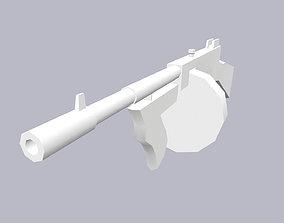 3D model Base Mesh Tommy Gun